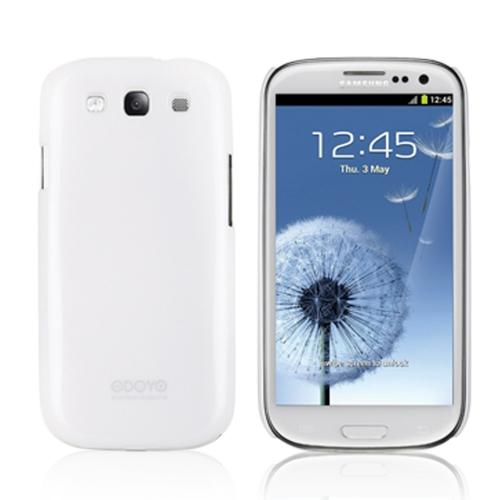 Odoyo Snow White Hard Case w/ Screen Protector for Samsung Galaxy S3 - Sparkle Series