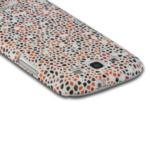 Odoyo White Hard Case w/ Screen Protector for Samsung Galaxy S3 - Mosaic Series