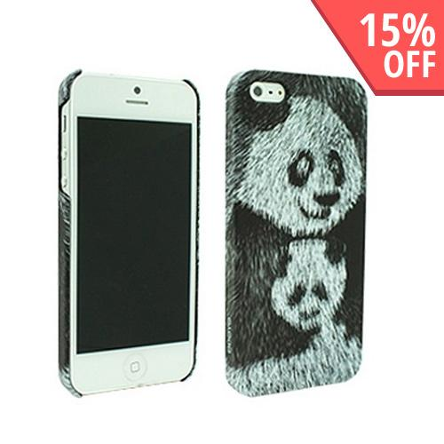 Apple iPhone SE / 5 / 5S  Case, Odoyo [Panda] Wild Animal Series Hard Case