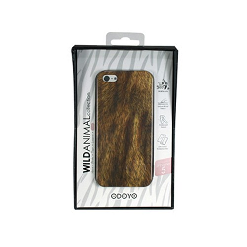 Apple iPhone SE / 5 / 5S  Case, Odoyo [Lion] Wild Animal Series Hard Case