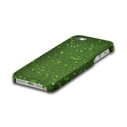 Odoyo Green Peridot Rubberized Hard Case Mosaic Collection for Apple iPhone 5/5S w/ Raised Texture