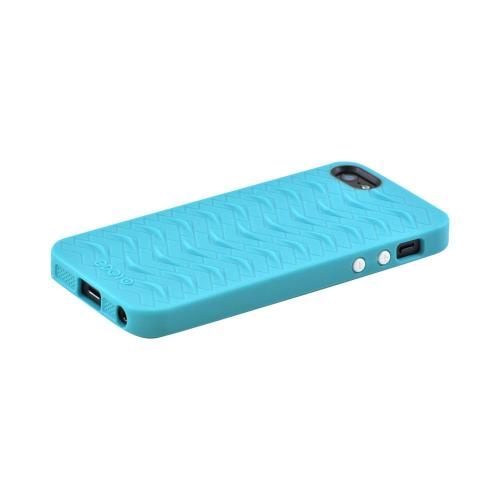 OEM Odoyo Shark Skin Collection Apple iPhone 5/5S Anti-Slip Hard Case w/ Screen Protector - Teal