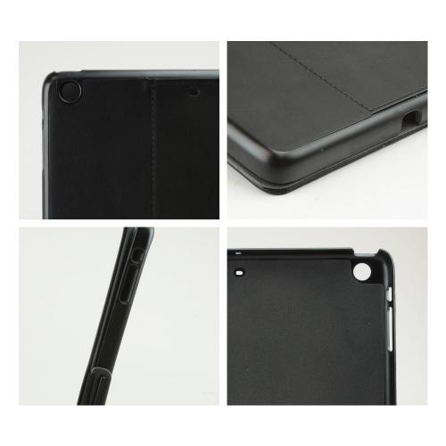Speck Black/ Slate Grey StyleFolio Series Vegan Leather Case w/ Clasp Closure & Stand for Apple iPad Air - SPK-A2137