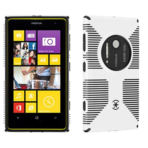Speck White/ Black CandyShell Grip Series Hybrid Hard Case for Nokia Lumia 1020 - SPK-A2369