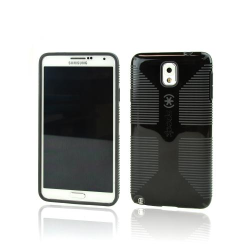 Speck Black/ Gray CandyShell Grip Series Hybrid Hard Case {SPK-A2434} Made for Samsung Galaxy Note 3 - Awesome Protection!