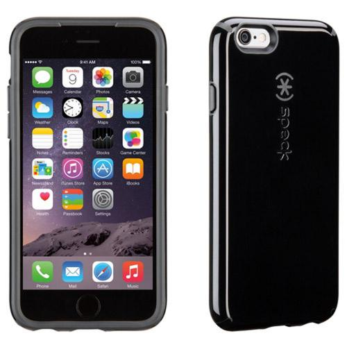iPhone 6 Hard Case by Speck [Black/Gray] Candyshell Series Featuring Hard Polycarbonate Cover On Silicone Skin