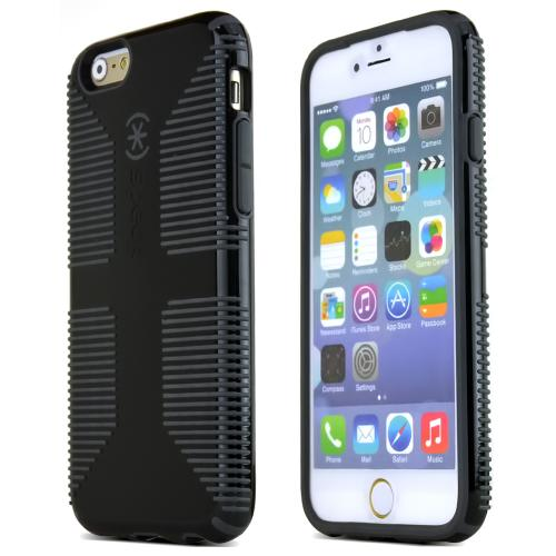 Apple iPhone 6 (4.7 inch) Case by Speck [Black/ Gray] CandyShell Grip Series Hybrid Hard Case [SPK-A3050]