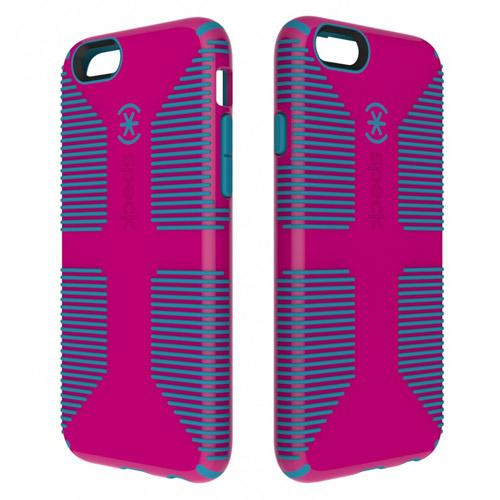 iPhone 6 Hard Case by Speck [Magenta/Teal] Candyshell Grip Series Featuring Hard Polycarbonate Cover On Silicone Skin