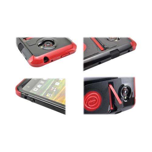 OEM Trident Cyclops HTC EVO 4G LTE Hard Cover Case w/ Built-In Screen Protector - Red/ Black