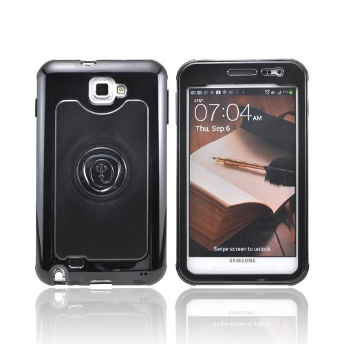 OEM Trident Cyclops Samsung Galaxy Note Hard Cover Case w/ Built-In Screen Protector - Black