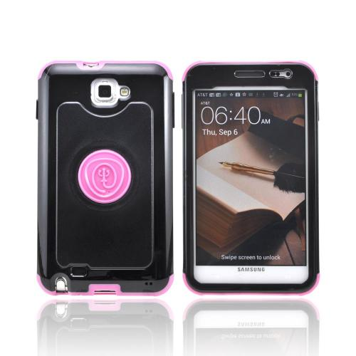 OEM Trident Cyclops Samsung Galaxy Note Hard Cover Case w/ Built-In Screen Protector - Pink/ Black