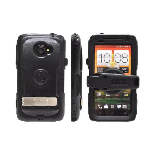 OEM Trident Kraken AMS HTC EVO 4G LTE Hard Case Over Silicone w/ Screen Protector, Kickstand & Belt Clip - Black