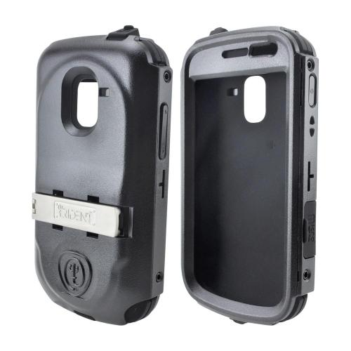 OEM Trident Kraken AMS Samsung Exhilarate i577 Hard Case Over Silicone w/ Screen Protector, Kickstand & Belt Clip - Black