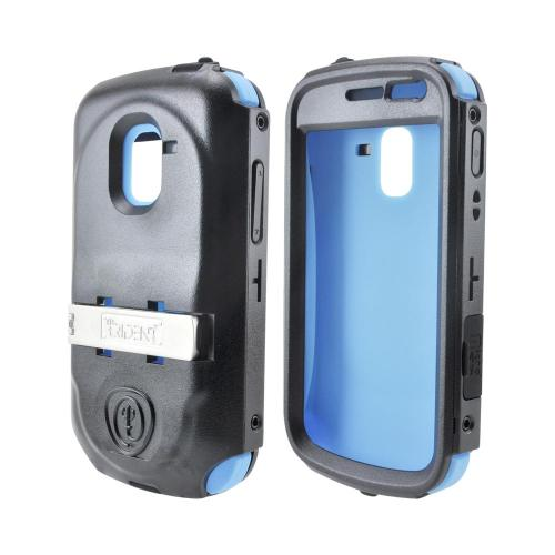 OEM Trident Kraken AMS Samsung Exhilarate i577 Hard Case Over Silicone w/ Screen Protector, Kickstand & Belt Clip - Blue/ Black