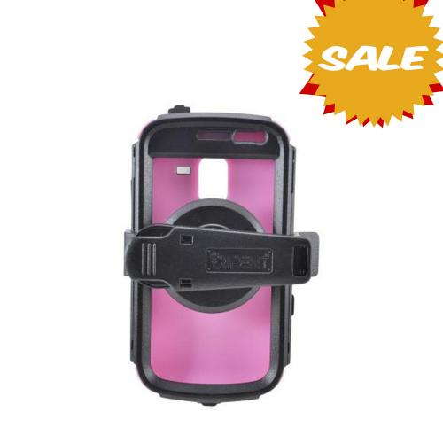 OEM Trident Kraken AMS Samsung Exhilarate i577 Hard Case Over Silicone w/ Screen Protector, Kickstand & Belt Clip - Pink/ Black