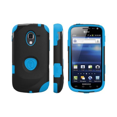 OEM Trident Aegis Samsung Exhilarate i577 Hard Case Over Silicone w/ Screen Protector - Blue/ Black