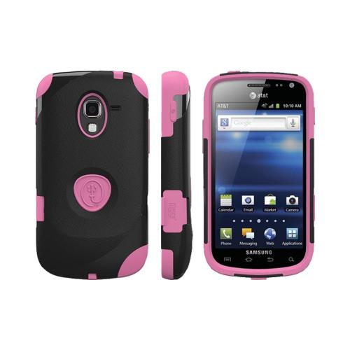 OEM Trident Aegis Samsung Exhilarate i577 Hard Case Over Silicone w/ Screen Protector - Pink/ Black