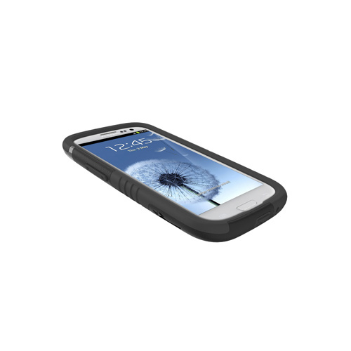 Trident Aegis Samsung Galaxy S3 Hard Case Over Silicone w/ Screen Protector - Black