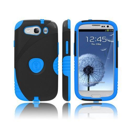 Trident Aegis Samsung Galaxy S3 Hard Case Over Silicone w/ Screen Protector - Blue/ Black