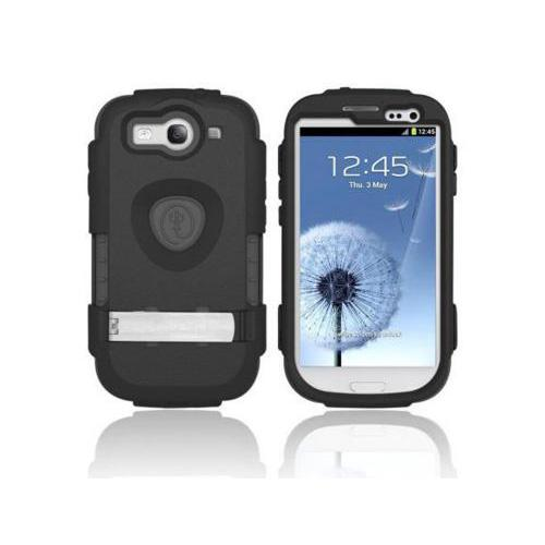 OEM Trident Kraken AMS Samsung Galaxy S3 Hard Case Over Silicone w/ Screen Protector - Black