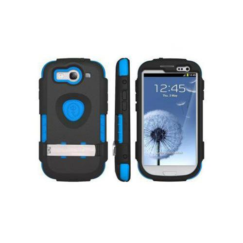 OEM Trident Kraken AMS Samsung Galaxy S3 Hard Case Over Silicone w/ Screen Protector - Black/ Blue