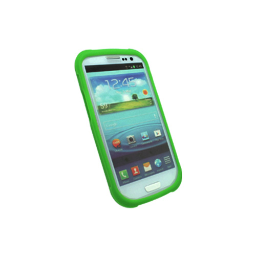 OEM Trident Perseus Samsung Galaxy S3 Impact-Resistant Silicone Case w/ Screen Protector, PS-I9300-TG - Green