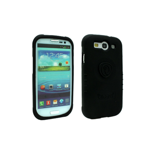 OEM Trident Perseus Samsung Galaxy S3 Impact-Resistant Silicone Case w/ Screen Protector, PS-I9300-BK - Black