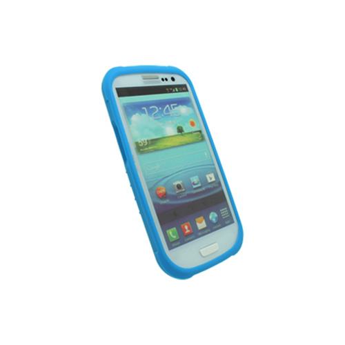 OEM Trident Perseus Samsung Galaxy S3 Impact-Resistant Silicone Case w/ Screen Protector, PS-I9300-BL - Blue