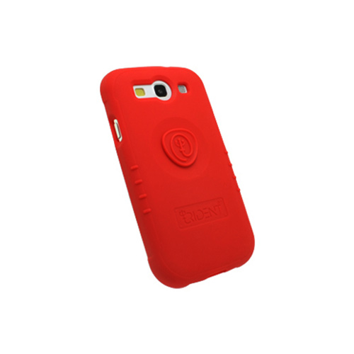 OEM Trident Perseus Samsung Galaxy S3 Impact-Resistant Silicone Case w/ Screen Protector, PS-I9300-RD - Red