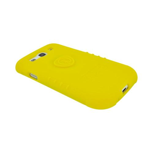 OEM Trident Perseus Samsung Galaxy S3 Impact-Resistant Silicone Case with Screen Protector, PS-I9300-YL - Yellow