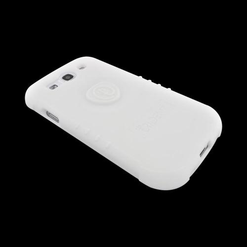 OEM Trident Perseus Samsung Galaxy S3 Impact-Resistant Silicone Case with Screen Protector, PS-I9300-WH - White