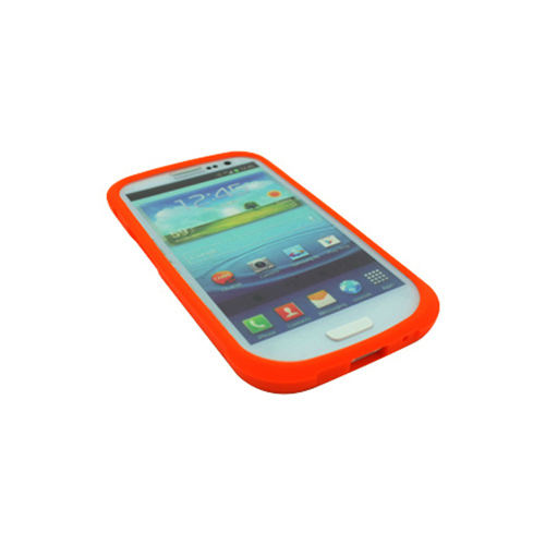 OEM Trident Perseus Samsung Galaxy S3 Impact-Resistant Silicone Case w/ Screen Protector, PS-I9300-OR - Orange
