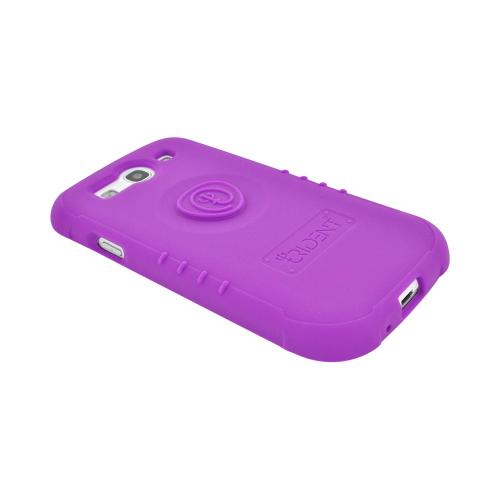 OEM Trident Perseus Samsung Galaxy S3 Impact-Resistant Silicone Case with Screen Protector, PS-I9300-PP - Purple