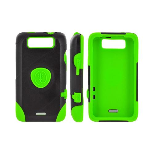 OEM Trident Aegis LG Viper 4G LTE/ Connect 4G Hard Cover Over Silicone Case w/ Screen Protector - Green/ Black
