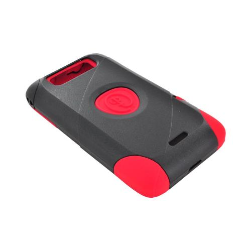 OEM Trident Aegis LG Viper 4G LTE/ Connect 4G Hard Cover Over Silicone Case w/ Screen Protector - Red/ Black