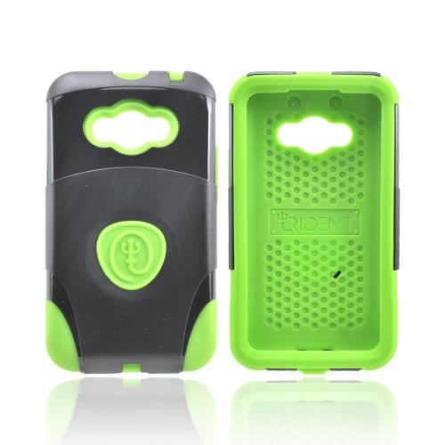 OEM Trident Aegis LG Optimus Elite Hard Cover Over Silicone Case w/ Screen Protector - Green/ Black