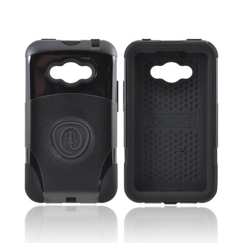 OEM Trident Aegis LG Optimus Elite Hard Cover Over Silicone Case w/ Screen Protector - Black
