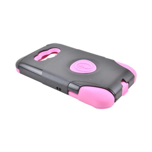 OEM Trident Aegis LG Optimus Elite Hard Cover Over Silicone Case w/ Screen Protector - Pink/ Black
