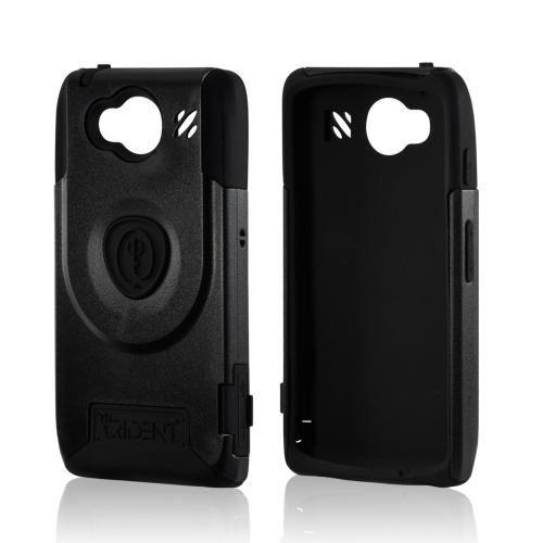 Trident Black Aegis Series Hard Case on Silicone w/ Screen Protector for Motorola Droid RAZR HD