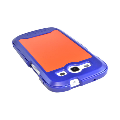 OEM Trident Apollo Samsung Galaxy S3 Hard Case w/ Interchangeable Plates & Screen Protector - Navy/ Orange