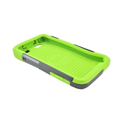 OEM Trident Aegis Motorola Atrix HD Hard Cover Over Silicone Case w/ Screen Protector - Green/ Black