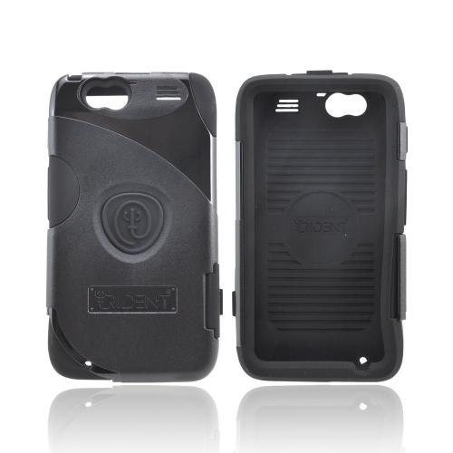 OEM Trident Aegis Motorola Atrix HD Hard Cover Over Silicone Case w/ Screen Protector - Black