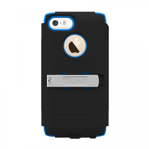 Trident Black/ Blue Kraken AMS Series Hard Case Over Silicone w/ Screen Protector, Kickstand & Belt Clip for Apple iPhone 5/5S - AMS-APL-IPH5S-BLU