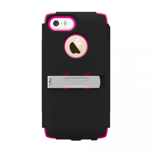 iPhone 5/5s Dual Layer Case by Trident [Black/Hot Pink] Kraken AMS Series Featuring Hard Case Over Silicone w/ Screen Protector, Kickstand & Belt Clip