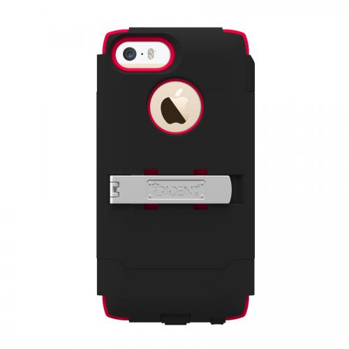Trident Black/ Red Kraken AMS Series Hard Case Over Silicone w/ Screen Protector, Kickstand & Belt Clip for Apple iPhone 5/5S - AMS-APL-IPH5S-RED