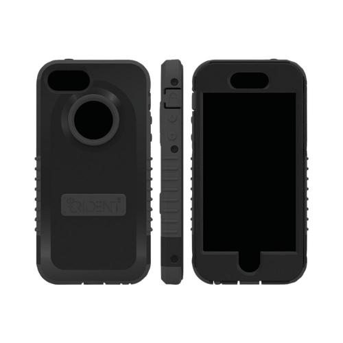 OEM Trident Cyclops Apple iPhone 5 Anti-Skid Hard Cover Over Silicone Case w/ Built-In Screen Protector - Black
