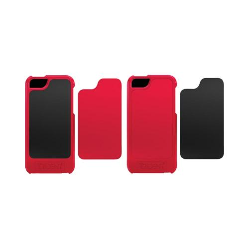 Trident Red/ Black Apollo Series Hard Case w/ Interchangeable Plates & Screen Protector for Apple iPhone 5/5S - AP-IPH5-REDBK
