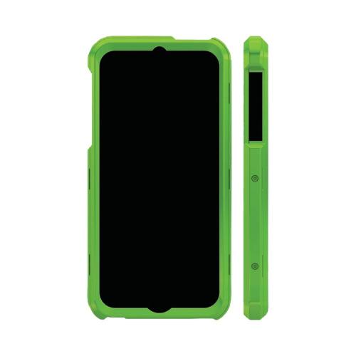 Trident Lime Green/ Blue Apollo Series Hard Case w/ Interchangeable Plates & Screen ProtectorApple iPhone 5/5S - AP-IPH5-TGBLU
