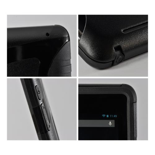 Trident Black Aegis Series Hard Case on Silicone w/ Screen Protector for Google Nexus 7