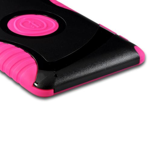 Trident Pink/ Black Aegis Series Hard Case on Silicone w/ Screen Protector for Google Nexus 7